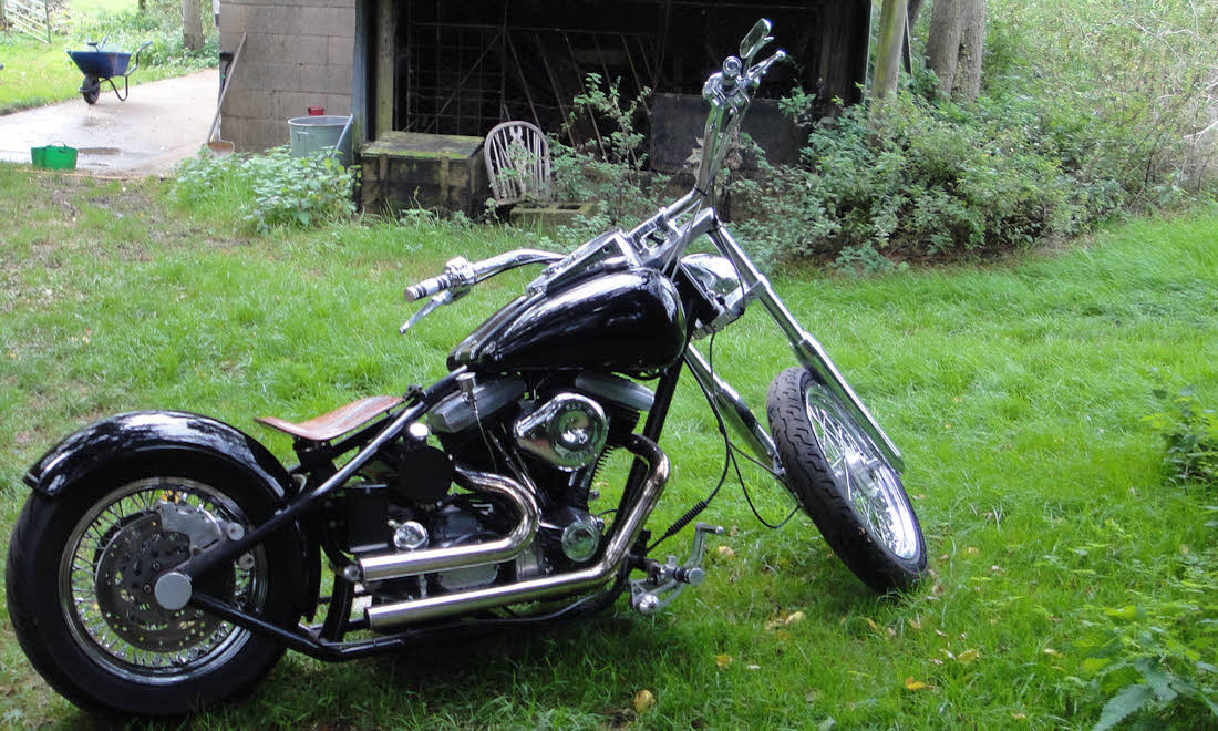 """Lot 43 - 1988/2001 Harley-Davidson """"Dirty Boy"""" custom Not Sold. Sorry, no longer available"""