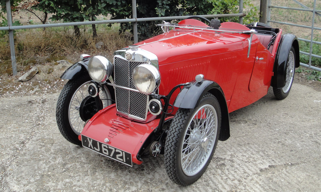 Lot 59 - 1933 MG Midget J2 Roadster SOLD for £24,764