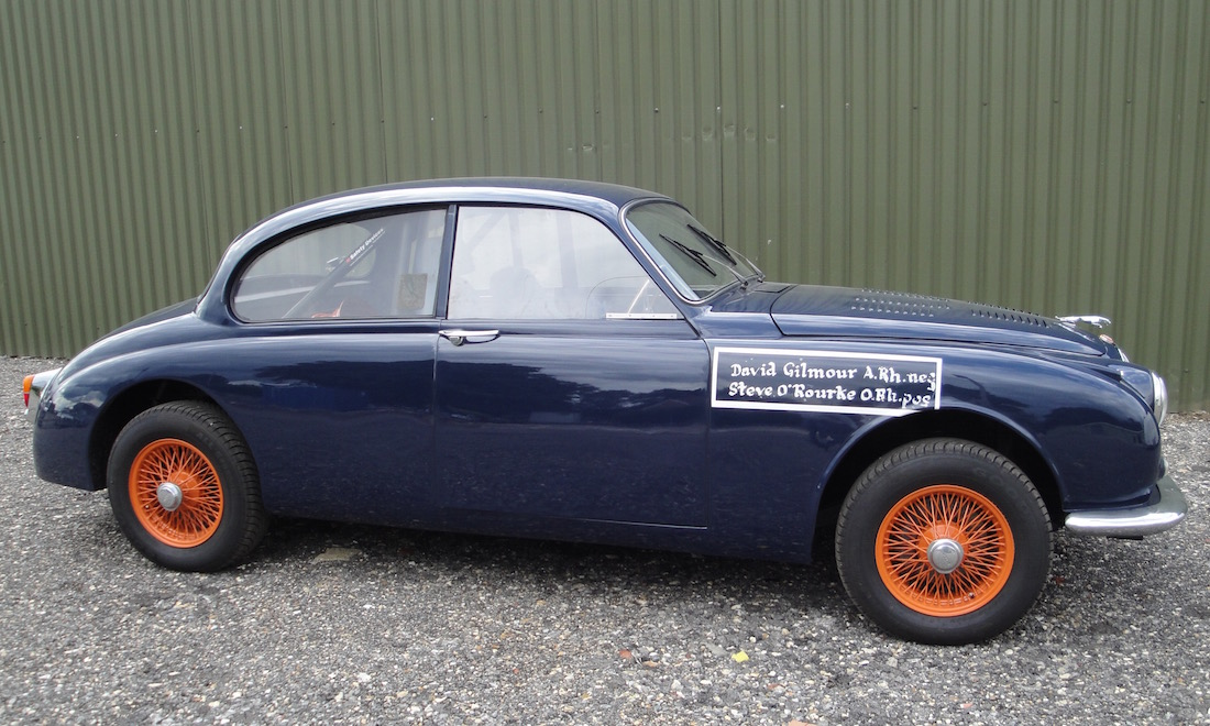 "Lot 72 - 1963 Jaguar MK2 Sports Saloon. Ex ""Pink Floyd""   Not Sold. Please contact us"