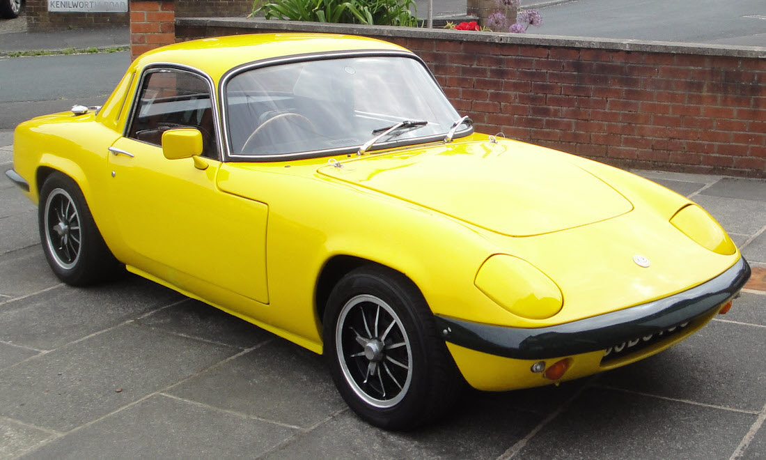 Lot 107 - 1971 Lotus Elan Sprint Fixed Head Coupe SOLD for £21,000