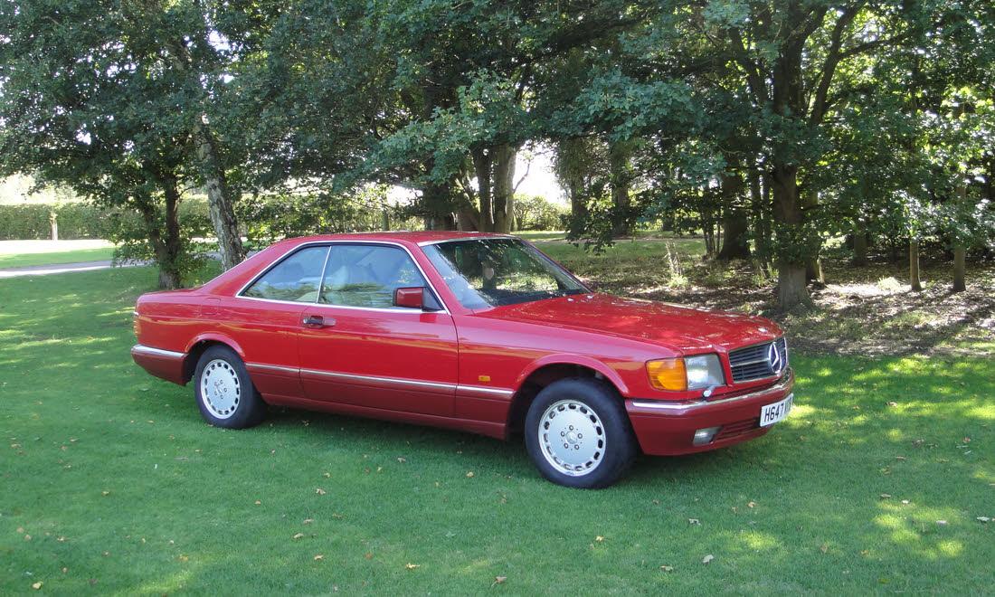 LOT 121 - 1990 Mercedes-Benz 420 SEC  SOLD for £13,650